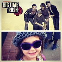 Cadence getting ready to see Big Time Rush!