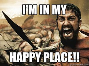 Don't confuse this place with your happy place!