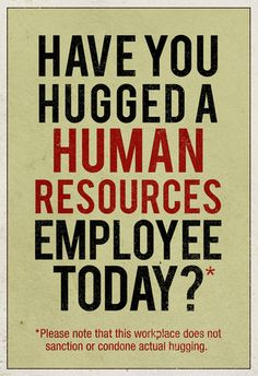 hug an hr person